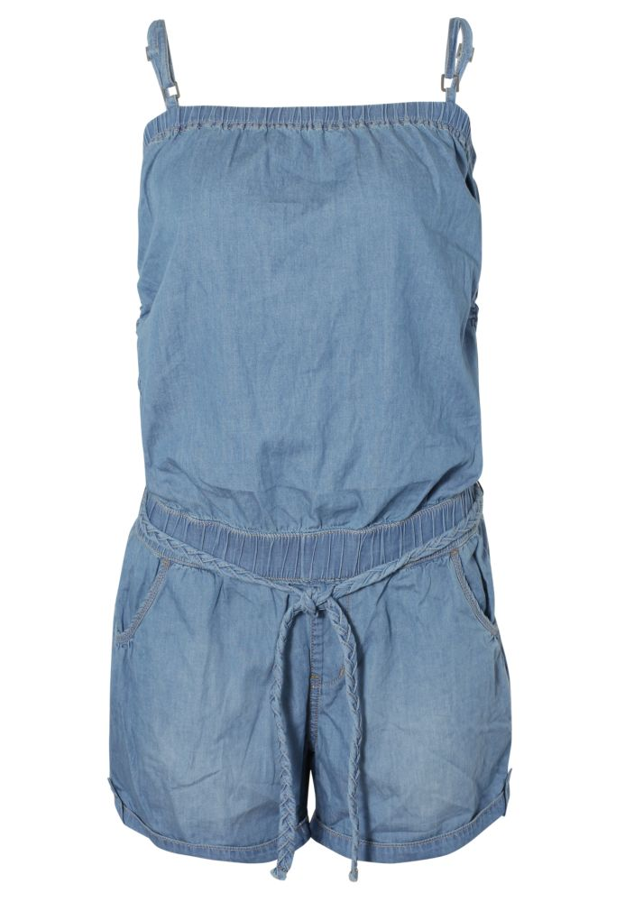 Kurzer Denim Jumpsuit