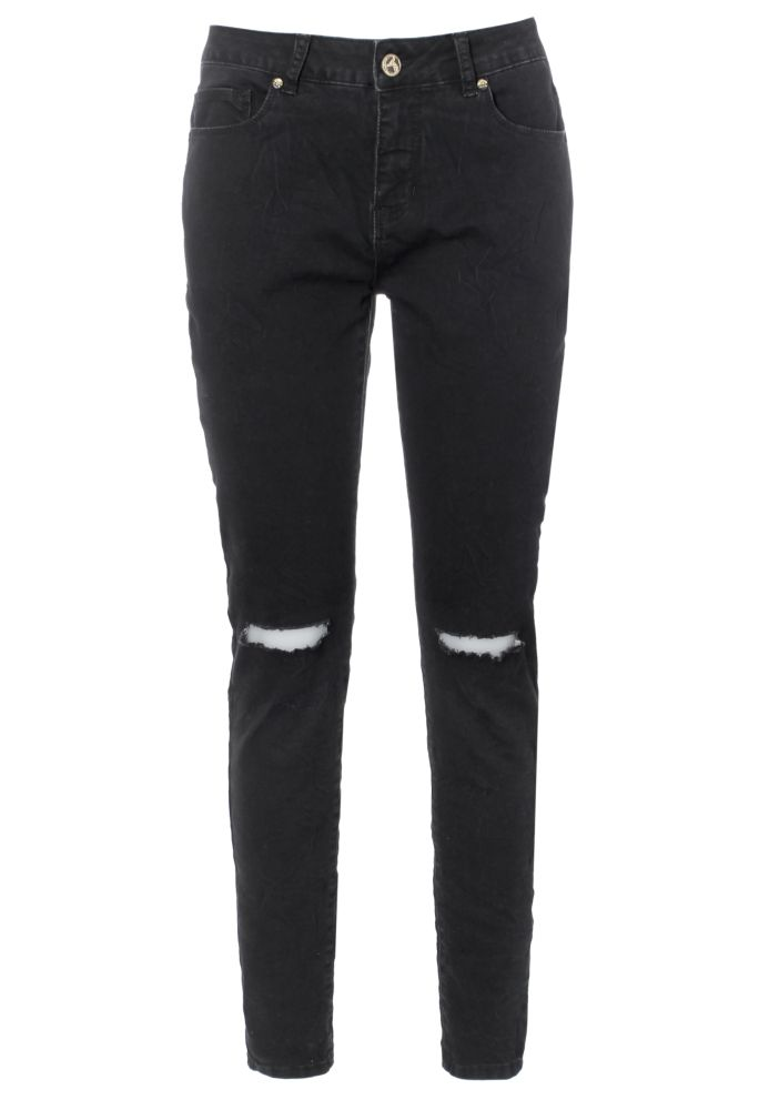Stretch Jeans mit Knee Cuts