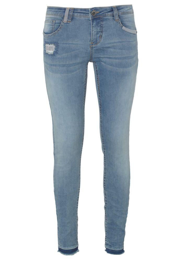 Skinny Jeans - Repaired-Look