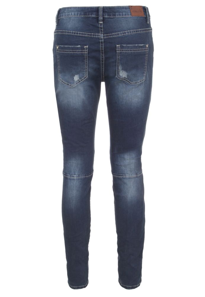 Vorschau: Skinny Biker Jeans mit Zipper