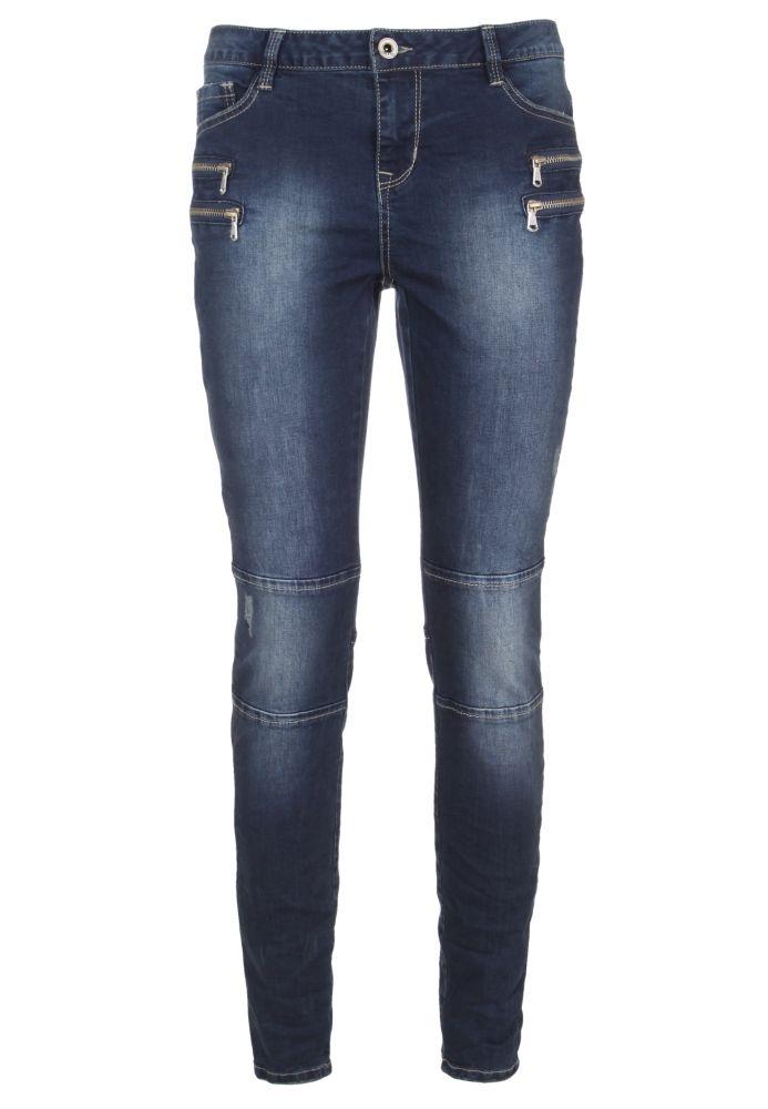 Skinny Biker Jeans mit Zipper