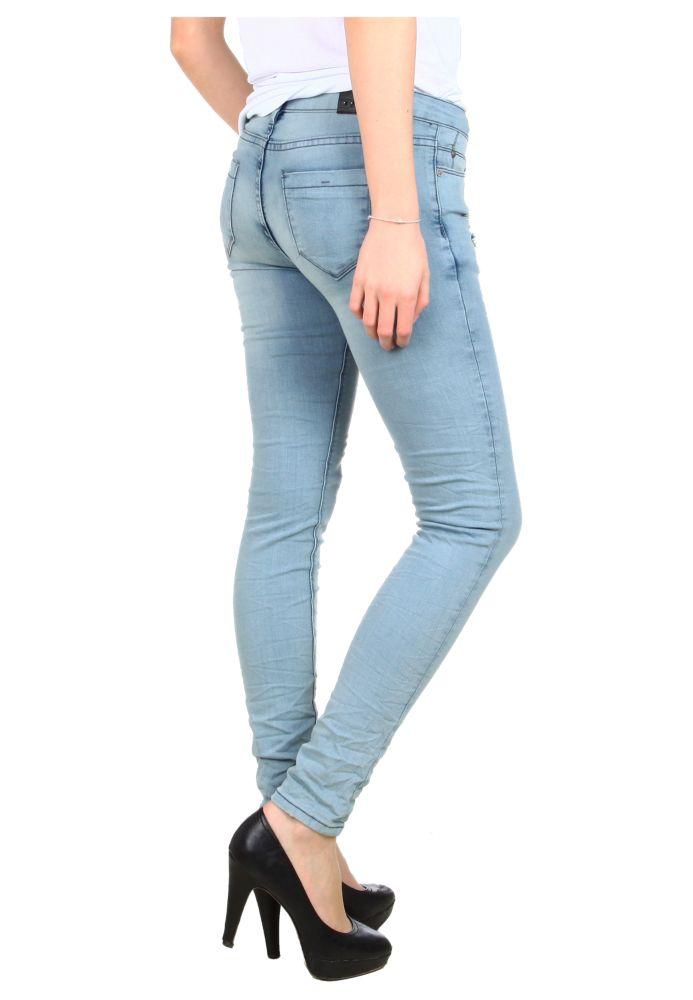 damen stretch jeans slim fit hellblau fashion5. Black Bedroom Furniture Sets. Home Design Ideas