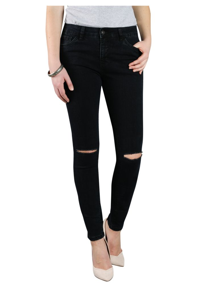 Vorschau: Knee Cut Stretch Jeans CAMIE