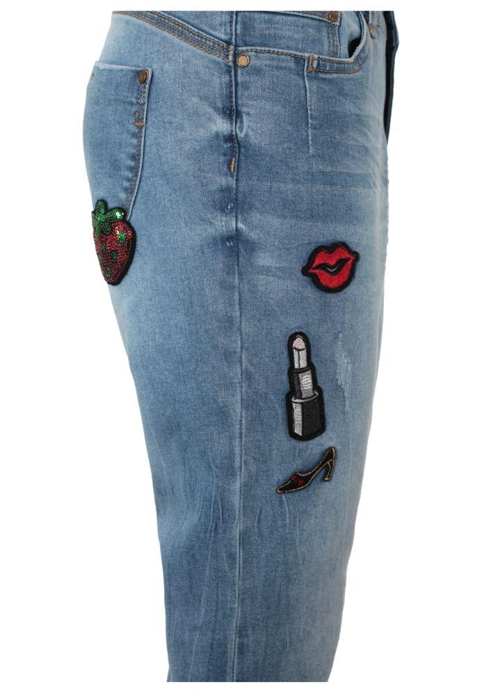 Vorschau: Boyfriend Jeans - Badges ROSIE