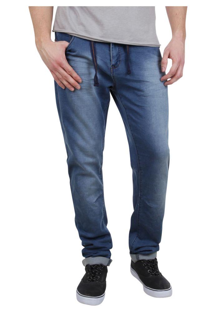 Vorschau: Blaue Sweat Jeans mit Kordel