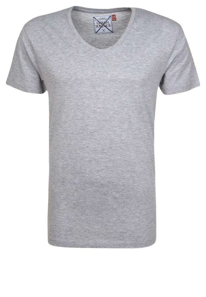 Melange Rundhals T-Shirt