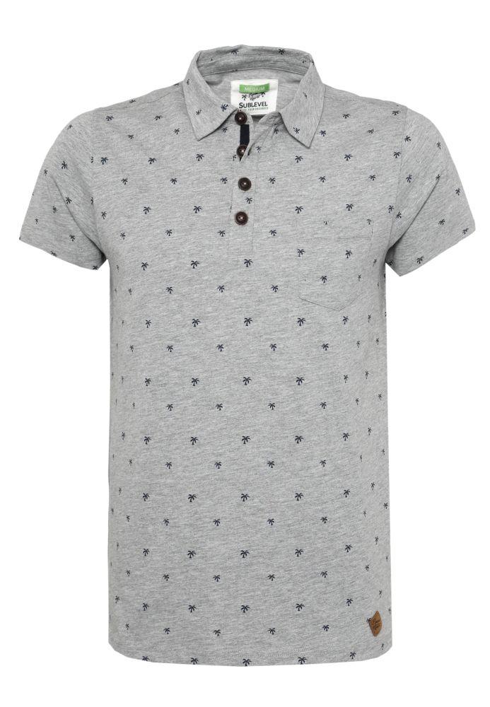 Herren Polo Shirt mit Palmen