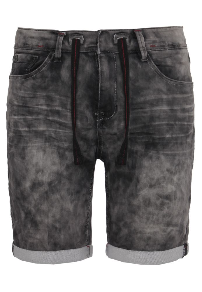 Sweat Jeans Shorts in Schwarz