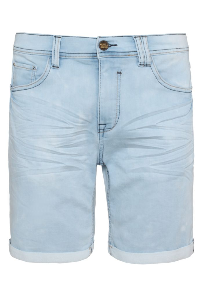 Hellblaue Sweat Jeans Shorts