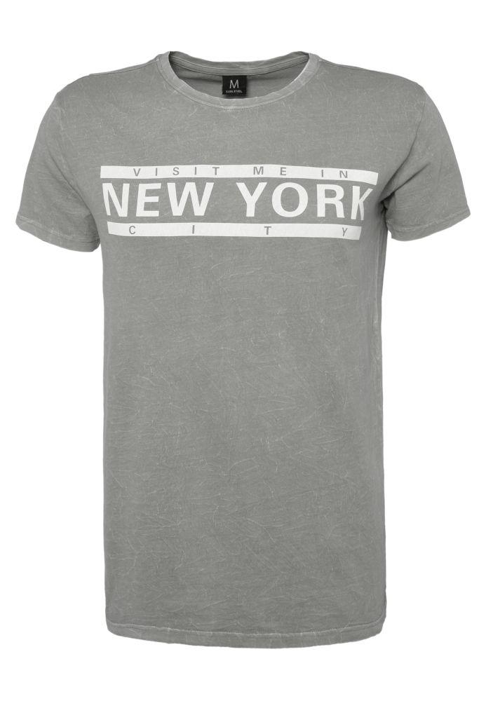 Marmoriertes Print T-Shirt