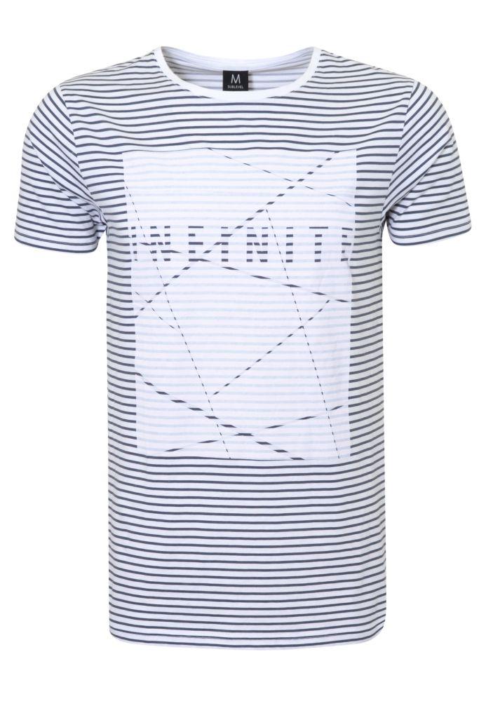 Gestreiftes Print Shirt