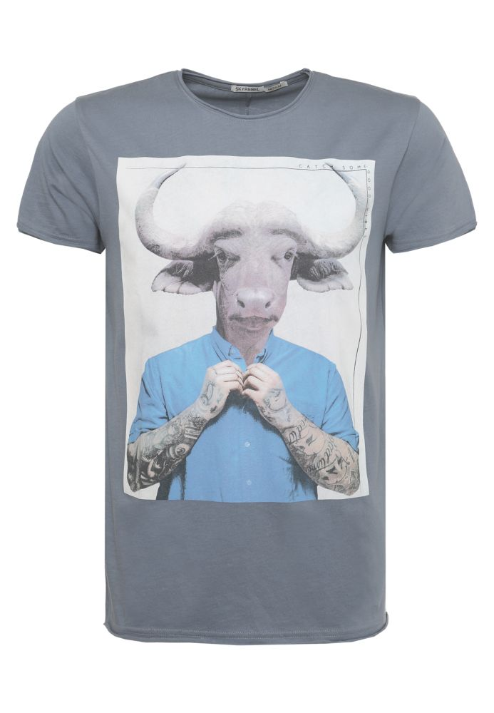 T-Shirt Cow-Man-Print TILL