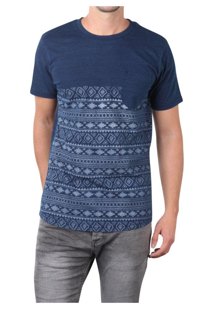 Vorschau: Herren T-Shirt mit Ethno Print