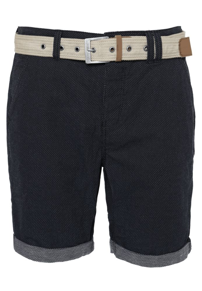 Gepunktete Chino Shorts