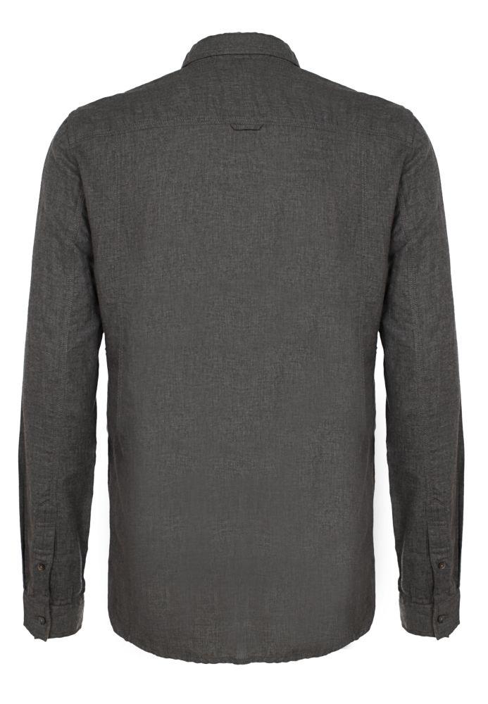 Vorschau: Herren Hemd - Materialmix