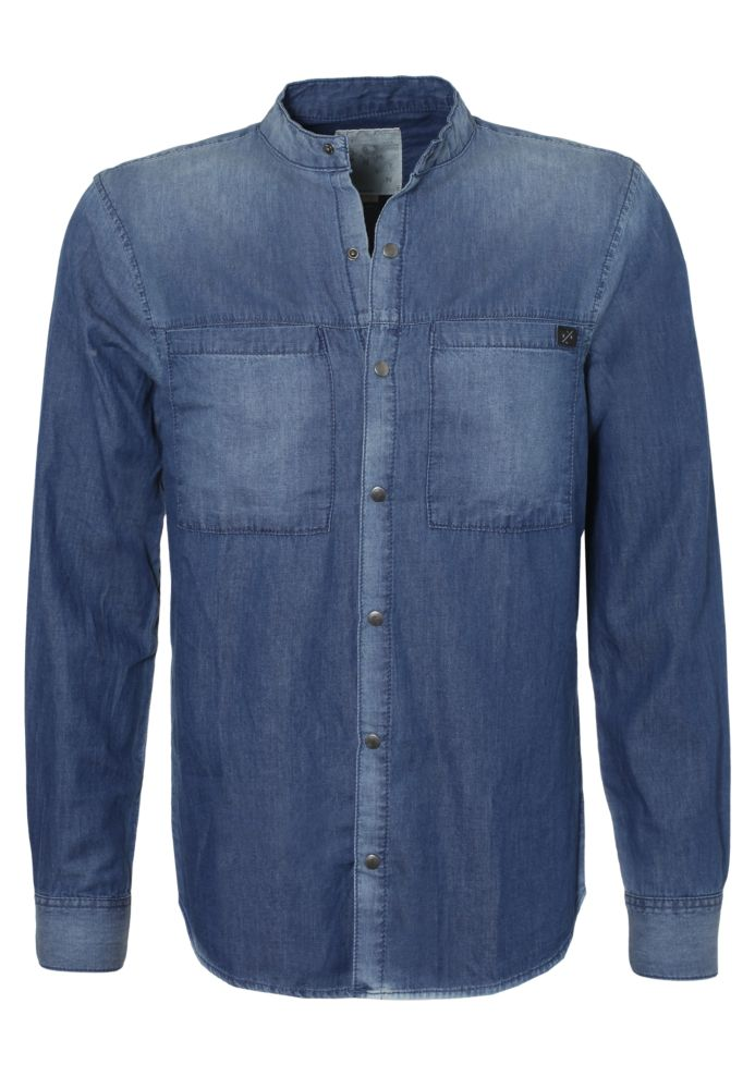 Leichtes Jeanshemd - Long Fit