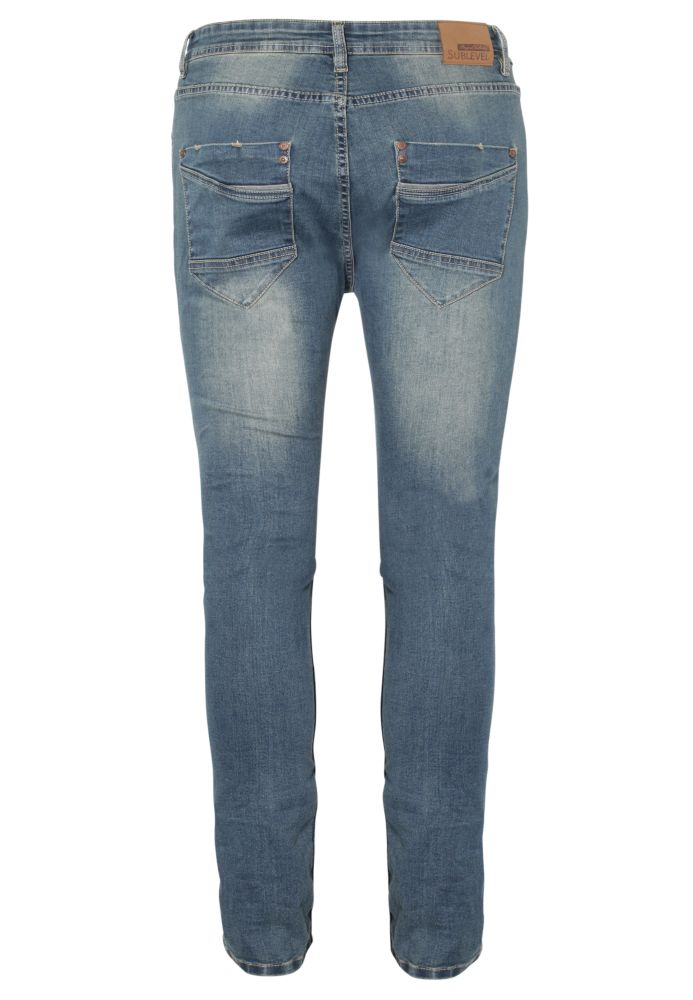 Vorschau: 5-Pocket Herren Used Jeans