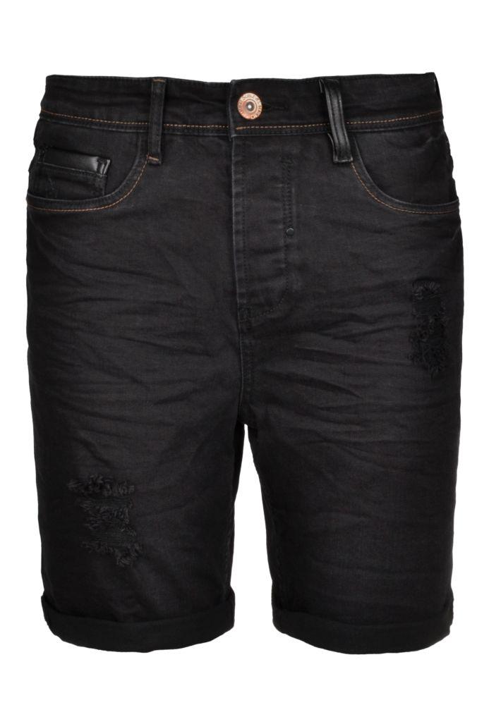 Schwarze Used Jeans Bermuda