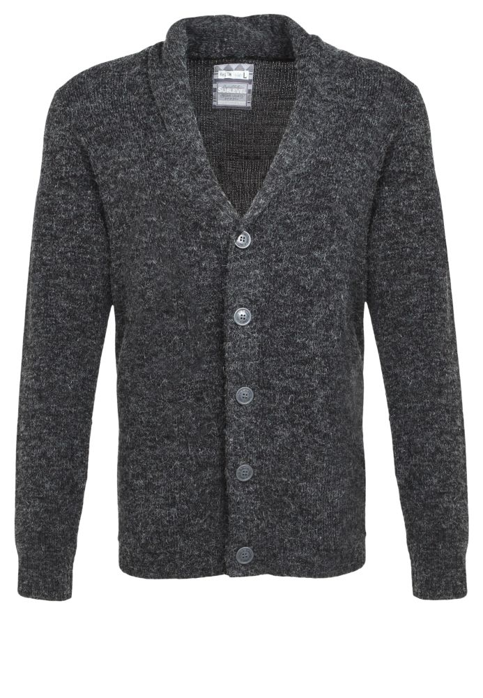 Strickjacke - Angora-Optik